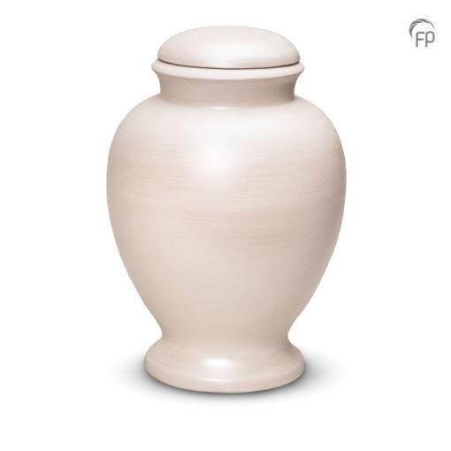 Biologische afbreekbare urn wit