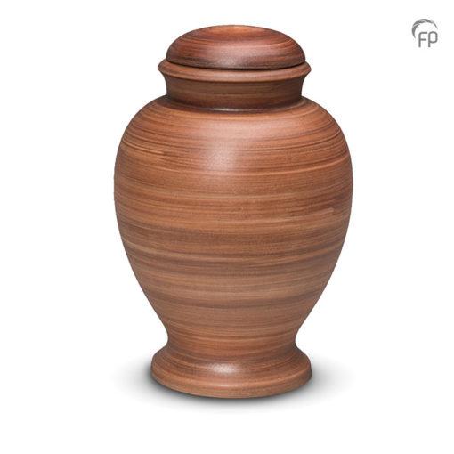 Biologisch afbreekbare urn donkerbruin