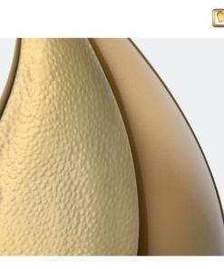Druppel urn bruin met goud A581 zoom