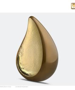 Druppel urn bruin met goud P581