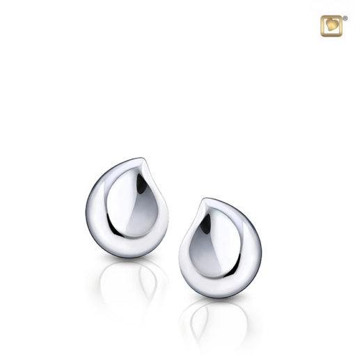 Zilveren oorbellen met as