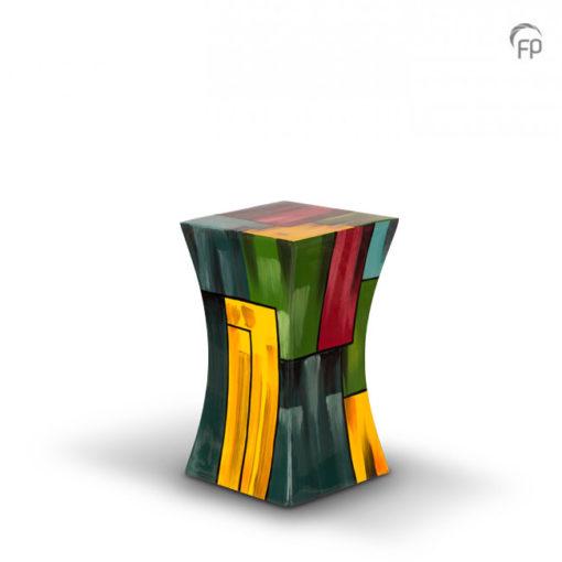 Glasfiber urn multicolor