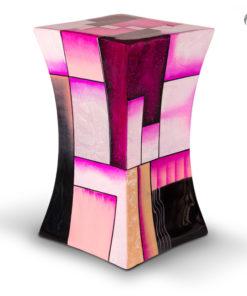 Glasfiber urn roze