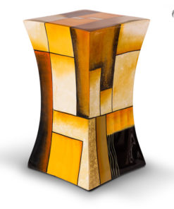 Glasfiber urn oranje