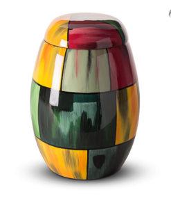 Glasfiber urn, mulicolor