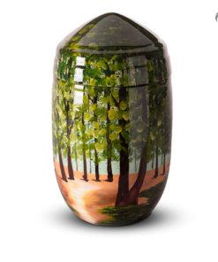 Glasfiber urn, bosbeschildering