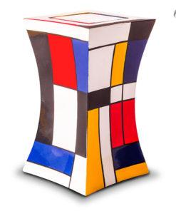 Glasfiber urn, kleurrijk