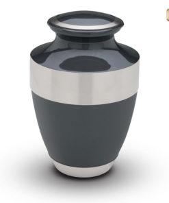 Love urn zwarte lak met zilverkleurige messing