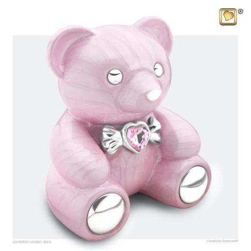 Kinder urn beer roze C1010