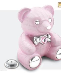 Kinder urn beer roze C1010 deksel