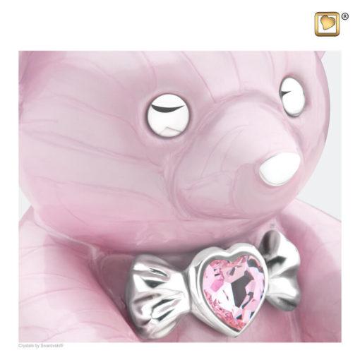 Kinder urn beer roze C1010 zoom