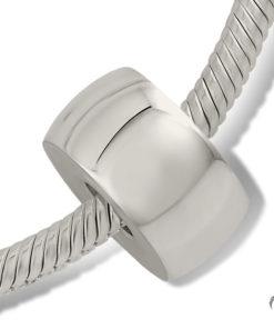 Zilveren bead met as
