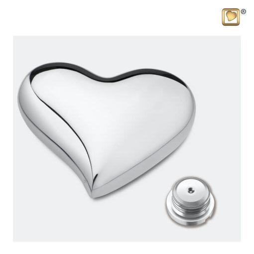 Messing urn hart