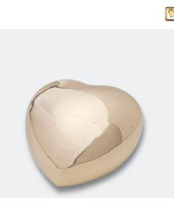 Mini urn bol hart glanzend goud