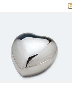 Mini urn bol hart glanzend zilver