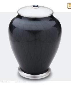 Premium Urn Simplicity zwart met zilver A523