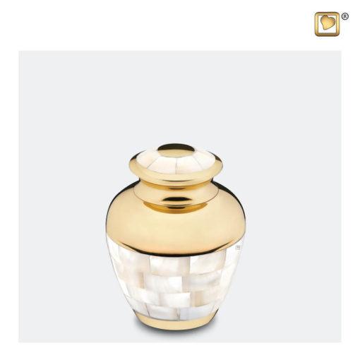 Premium Urn goudkleurig met parelmoer decoratie K230