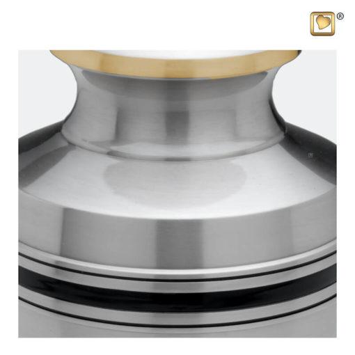 Premium Urn mat zilver met zwarte band A800 zoom