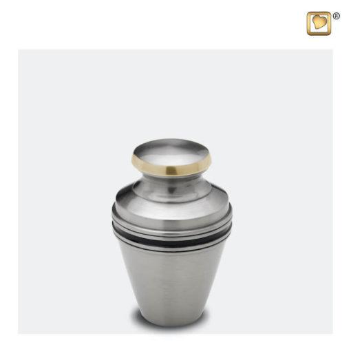 Premium Urn mat zilver met zwarte band K800