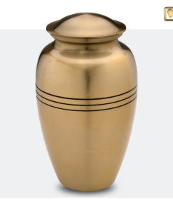 Premium Urn matte goudkleur met zwarte strepen A216