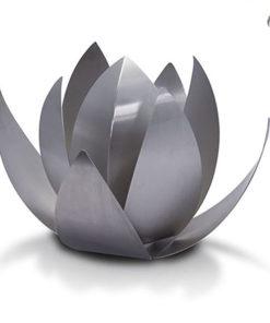 RVS urn lotus bloem