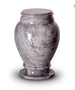 Marmeren urn wit met zwart