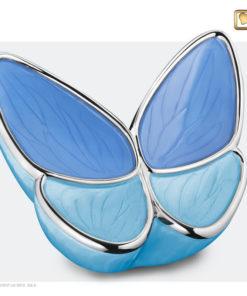 Vlinder urn blauw A1041