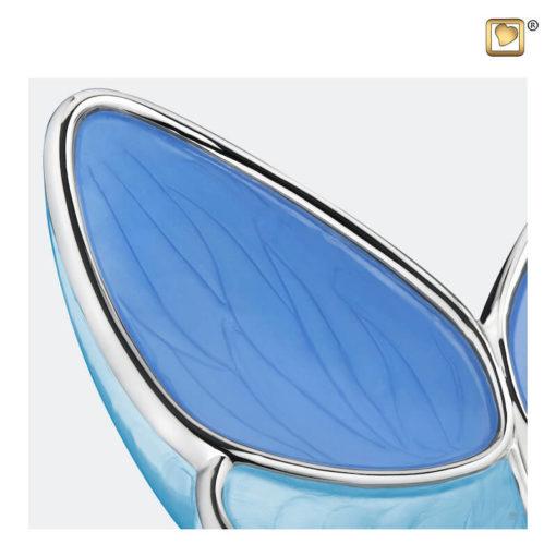 Vlinder urn blauw A1041 zoom