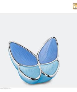 Vlinder urn blauw K1041