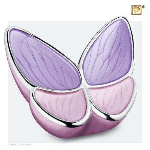 Vlinder urn roze A1040