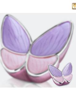 Vlinder urn roze A1040 set