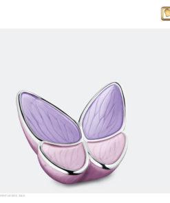 Vlinder urn roze K1040
