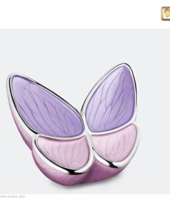 Vlinder urn roze M1040