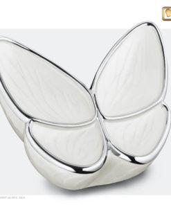 Vlinder urn wit A1042
