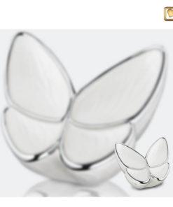 Vlinder urn wit A1042 set