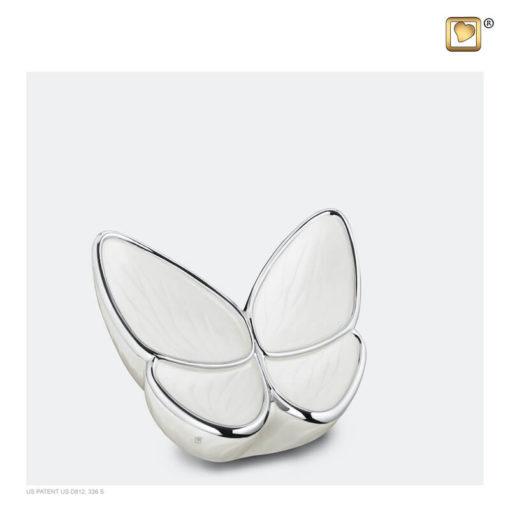 Vlinder urn wit K1042