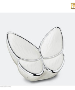 Vlinder urn wit M1042