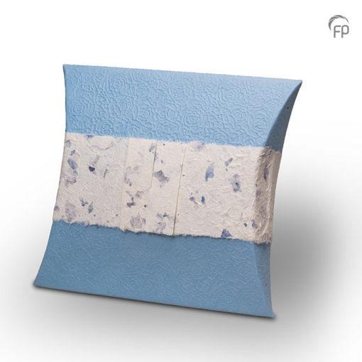 Biologische zee urn, blauwe envelop