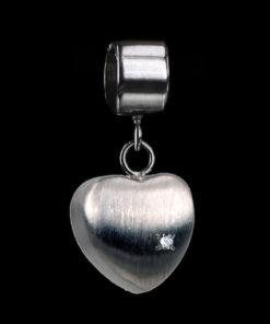 Zilveren hanger met as