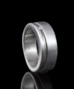 Zilveren ring met as