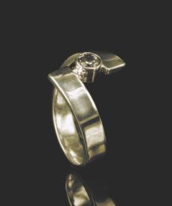 Gouden ring met as