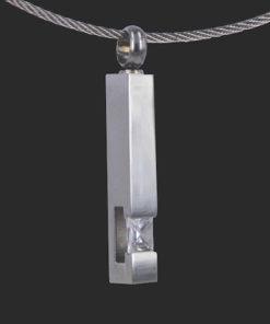 Zilveren ashanger met as
