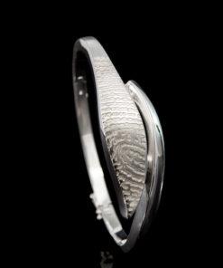 rvs stijve armband met vingerafdruk
