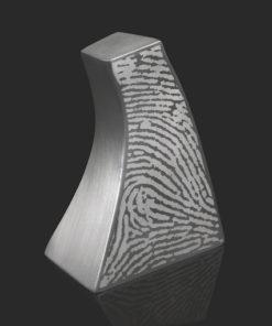 RVS urn met vingerafdruk