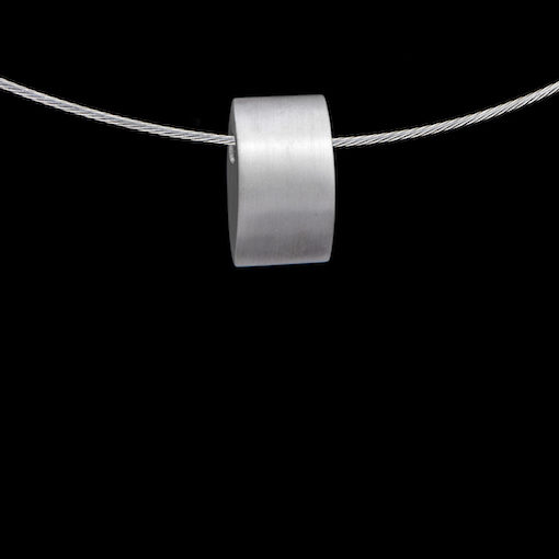 Zilveren ashanger met schroefdopje, design rechthoek