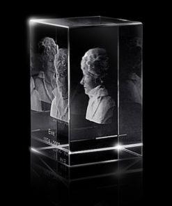 Glazen rechthoek met lasergravure