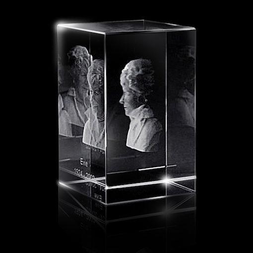 3d Glazen Kubus.Glazen Rechthoek Met Lasergravure