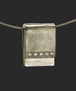 Zilveren hanger met vingerafdruk