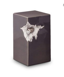 Keramische urn met hart