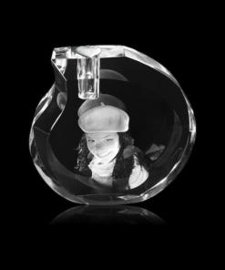 Glazen urn/asbestemming (druppel)